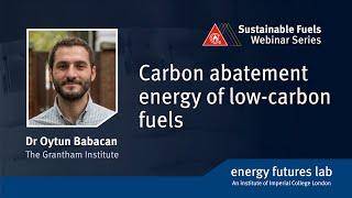 Webinar: Energía de reducción de carbono a partir de combustibles bajos en carbono