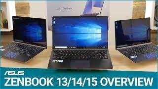 ASUS #ZenBook 13/14/15 Overview