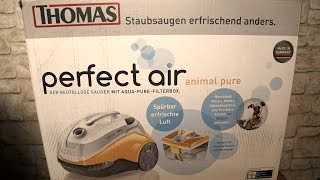 [Unboxing/Review] PERFECT AIR ANIMAL PURE Staubsauger by.Thomas [German/FULLHD]