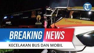 BREAKING NEWS - Kecelakaan di Gerbang Tol Kalikangkung, Libatkan 2 Bus AKAP dan Mobil Kijang Innova