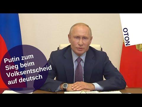 Putin zum Sieg beim Volksentscheid auf deutsch [Video]