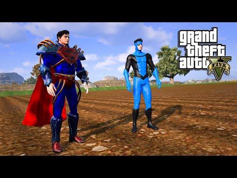 GTA 5 - INVINCIBLE DARK VS SUPERBOY PRIME! (2K)