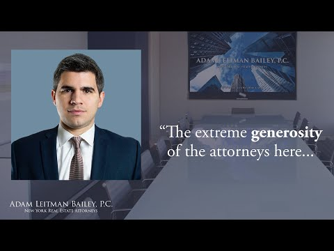 """The extreme generosity of the attorneys here…"" testimonial video thumbnail"
