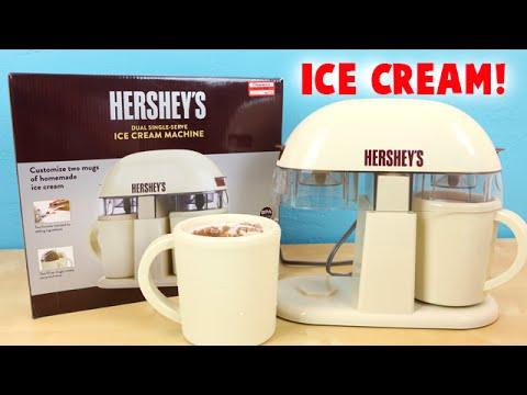 Hershey's Ice Cream Machine Dual Single Serve – Make Chocolate Ice Cream!
