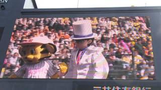 2015年4月18日土始球式「名探偵コナン」の怪盗キッド登場
