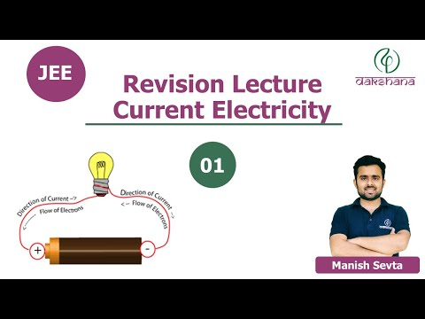JEE   Physics   Current Electricity   L 01   Manish Sevta