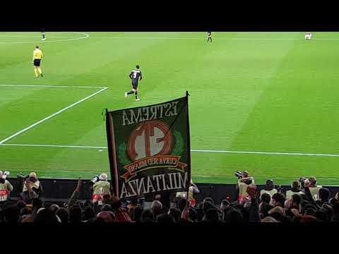 """AC Milan Chants - """"Ooh AC Milan"""" Arsenal v AC Milan 3:1  (Emirates - 15/03/2018 )"""