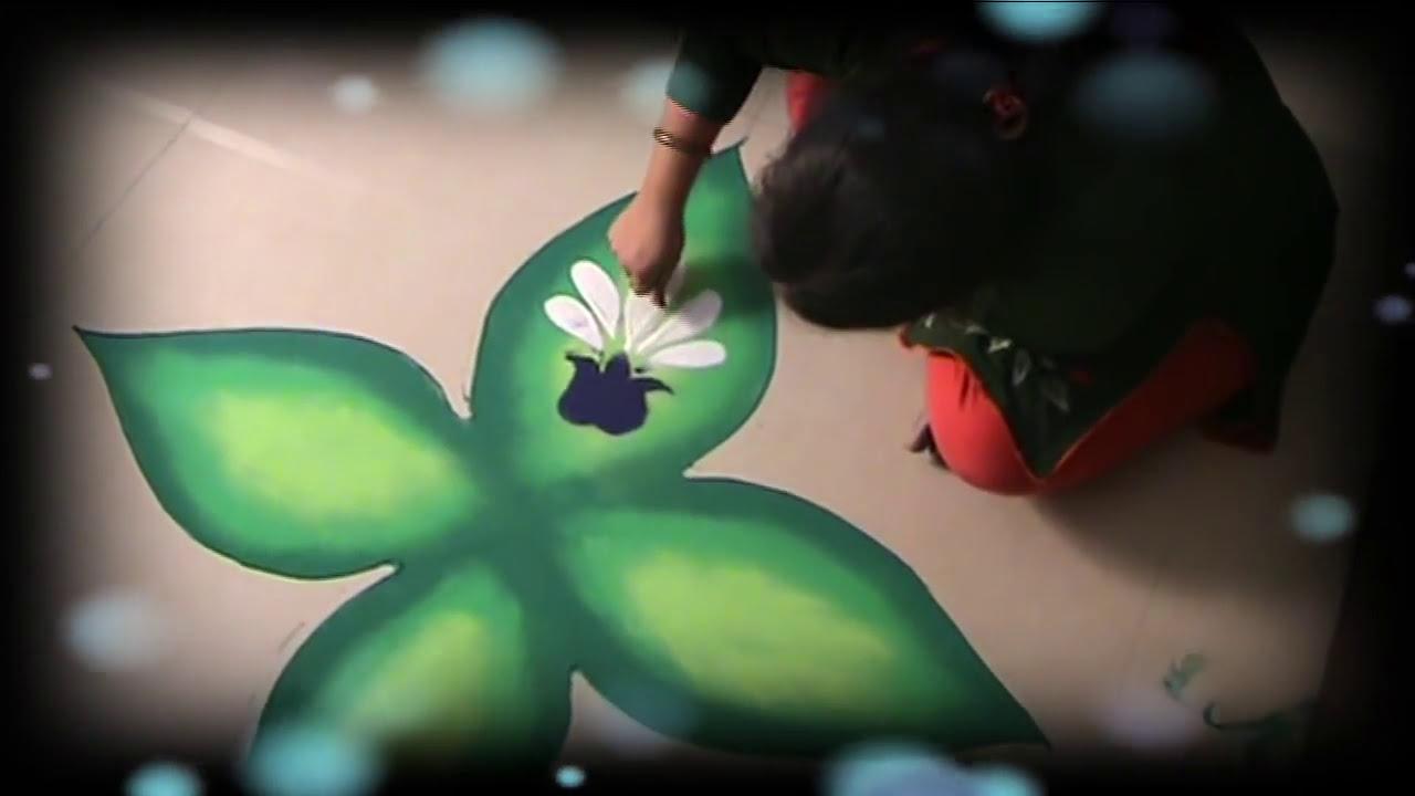 beautiful and easy diwali rangoli design