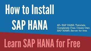 Sap Hana tutorial for beginners - Install SAP HANA for free on Google Cloud