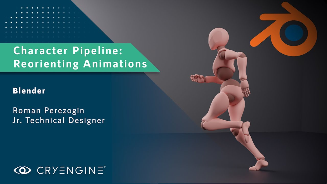 CRYENGINE Tutorial - Character Pipeline: Reorienting Animations (Blender)