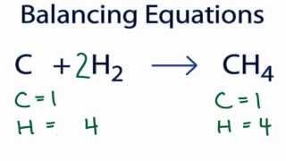 C + H2 = CH4 : Balancing Equations