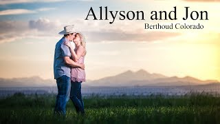 Berthoud Colorado Country Engagement Session With Allyson And Jon