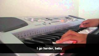 JLS - Go Harder - Piano + Lyrics
