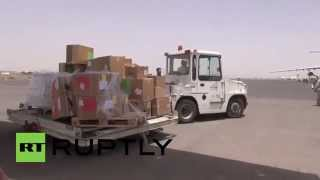 preview picture of video 'Yemen: 30 tonnes of humanitarian aid reaches Sanaa'