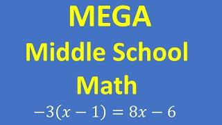 MEGA Test   Middle School Math Practice