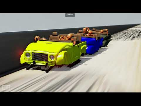 Impossible Roller Coaster Crashes #8 - BeamNG Drive - CrashTherapy