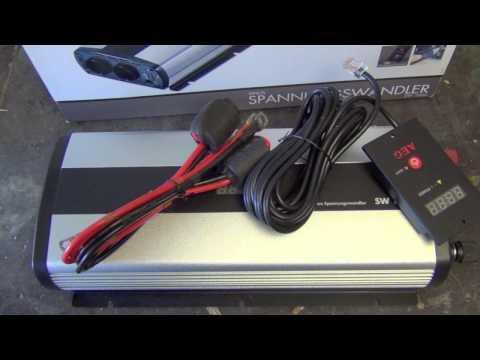 AEG Wechselrichter SW1000 im Test für das Wohnmobil 1000 Watt 12 Volt 230 Volt