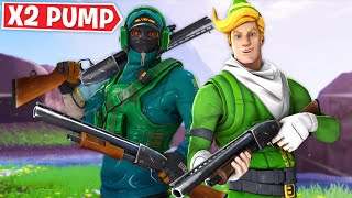DOUBLE PUMPING in Fortnite! Ft. Lachlan