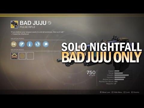 Solo Nightfall w/ Bad Juju Exotic Only [Destiny 2]