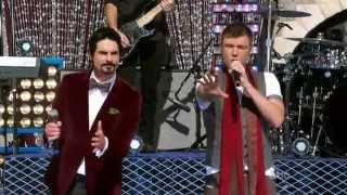 Backstreet Boys performing at Disney Christmas Day Parade 2012