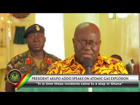 Gas Explosion: Akufo-Addo speaks on Atomic Junction gas explosion