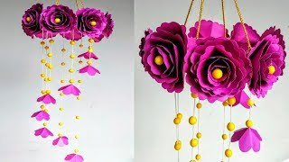 diy-wind-chime-with-beautiful-paper-roseswall-hangingpaper-craft