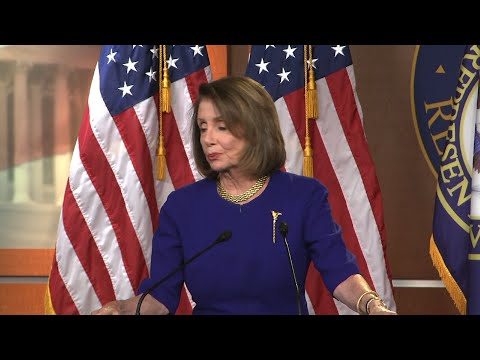"House Speaker Nancy Pelosi says she welcomes ""the enthusiasm"" of backers of a Green New Deal, but stopped short of supporting it as other Democrats unveil legislation aimed at combating climate change and creating jobs in renewable energy. (Feb. 7)"