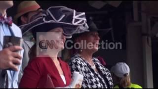 KENTUCKY DERBY-CROWD ARRIVALS-HATS!