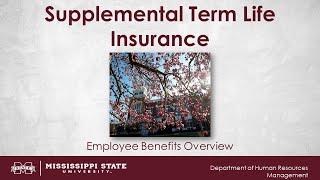 Supplemental Term Life Insurance Video