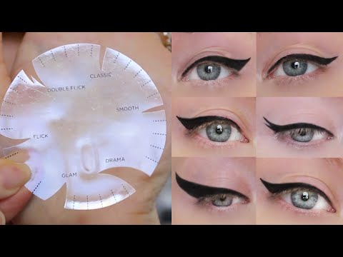Winged Eyeliner Tutorial | 6 Different Styles, ONE Stencil