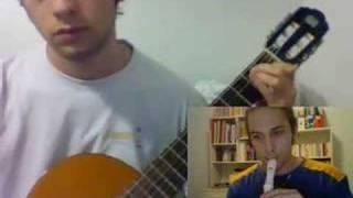 Thème de Saria à la guitare et à la flûte