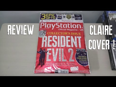 RESIDENT EVIL 2 COLLECTOR'S ISSUE (CLAIRE) Playstation Official Magazine UK 2018 Review / UNBOXING