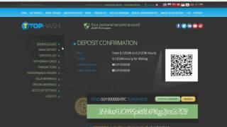 Tophash  Новый инвестиционный хайп HYIP проект  3% в день  Заработок Bitcoin 2016