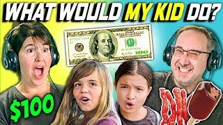 CAN PARENTS GUESS WHAT THEIR KID DOES WITH 100 DOLLARS? Ep. # 2