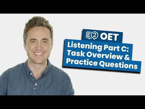 OET Listening Part C: Task Overview & Practice Questions - YouTube