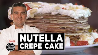 Nutella Crepe Cake, Cake Boss Style!   Fast Cakes Ep08