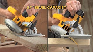 How to cut a bevel angle using a circular saw