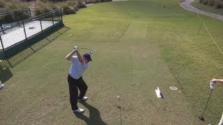 GOLF SWING 2013 - JOHN HUSTON DRIVER - ELEVATED DOWN THE LINE & SLOW MOTION - HQ 1080p HD