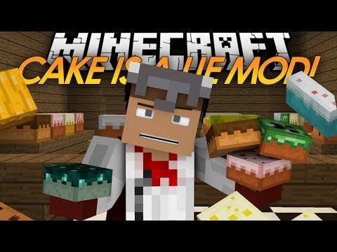 Minecraft Mods | THE CAKE IS A LIE MOD! | More Cakes Mod (Mod Showcase)