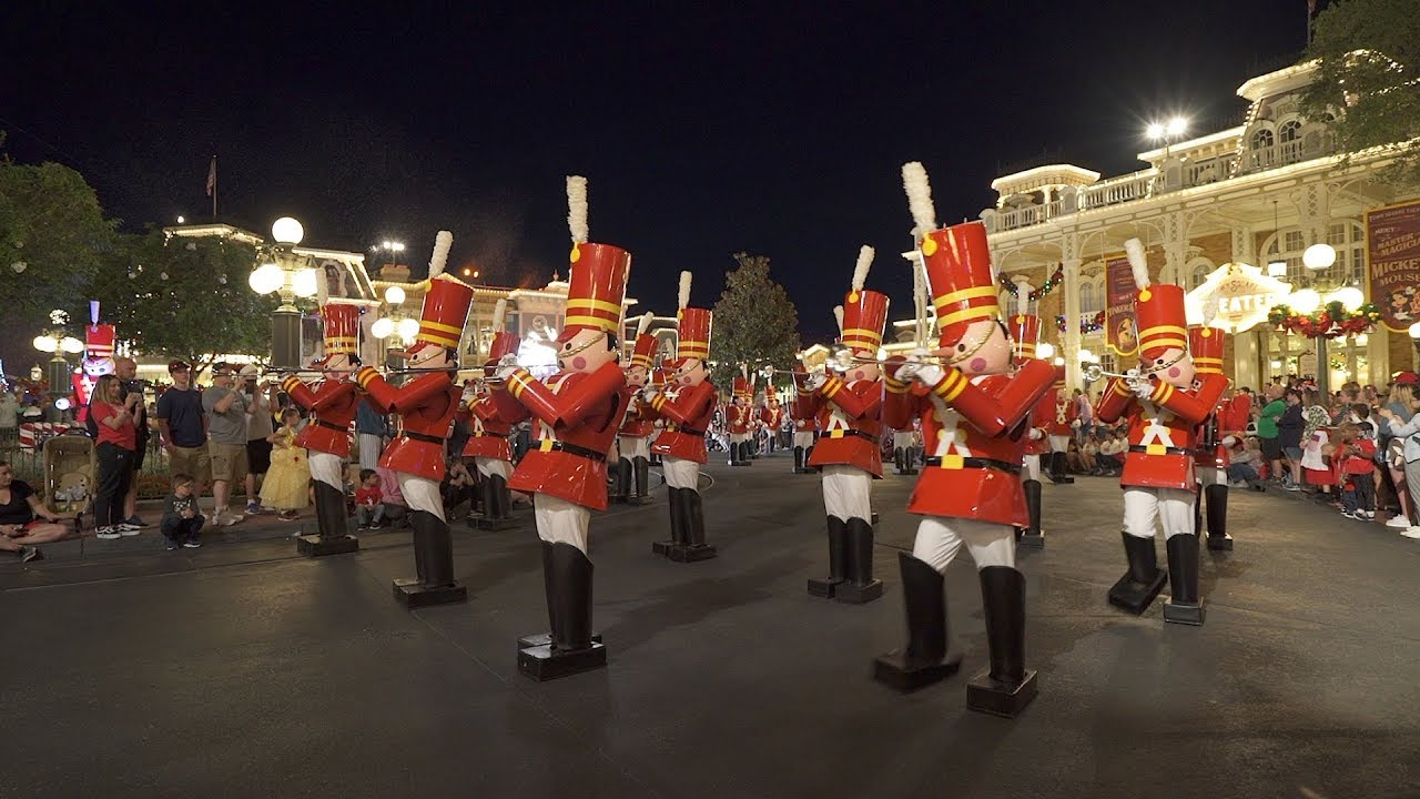 Mickey's Once Upon a Christmastime Parade nighttime 2019