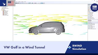 VW Golf in a Wind Tunnel