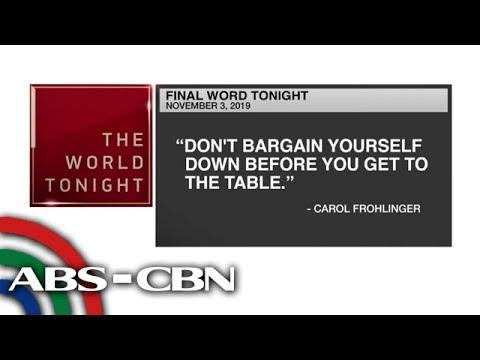 [ABS-CBN]  Final Word – November 3, 2019 | ANC