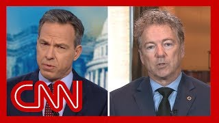 Jake Tapper to Sen. Rand Paul: Do you really think Trump cares about corruption?