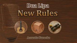 New Rules   Dua Lipa (Acoustic Karaoke)