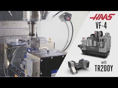 Обработка на вертикально-фрезерном центре Haas VF-4 с наклонно-поворотным столом TRT200Y