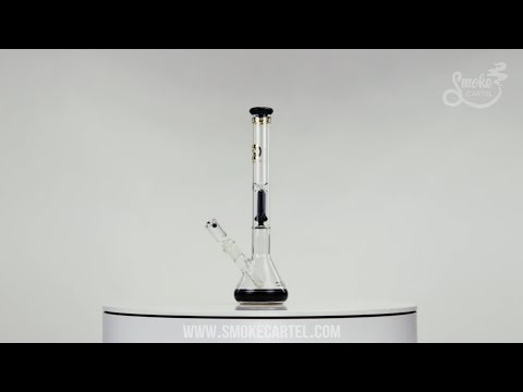 Gilded Glass Showerhead Perc Beaker Base with Accents on Youtube