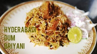 Hyderabad Chicken Dum Briyani / Step by Step Process Cooking