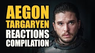 Game of Thrones AEGON TARGARYEN Reactions Compilation