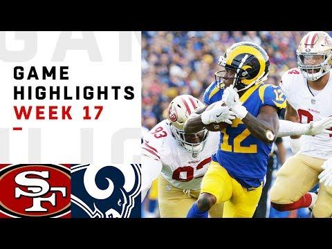 a2a1e8eef 49ers vs. Rams Week 17 Highlights | NFL 2018