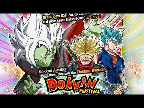 fusion zamasu super saiyan rage trunks dokkan festival summoning
